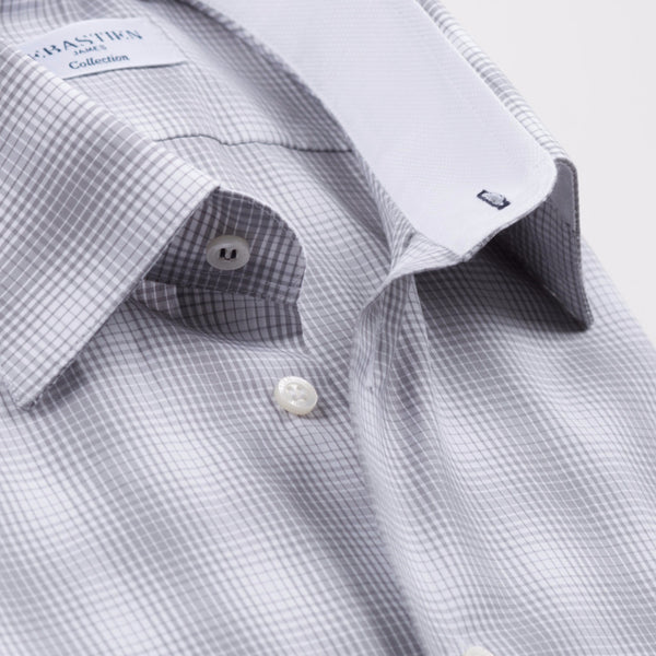 Gary Cotton Shirt - Grey Plaid