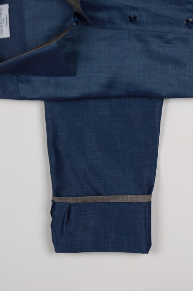 Gary Shirt Cotton Linen - Blue