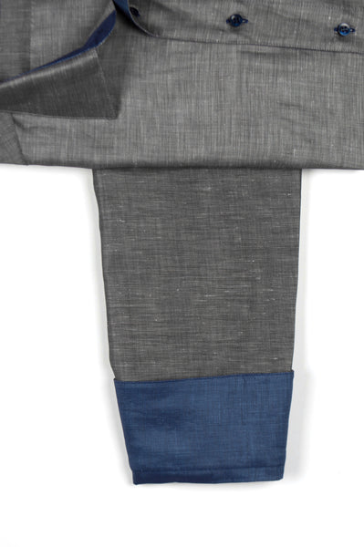 Gary Shirt Cotton Linen - Dark Grey