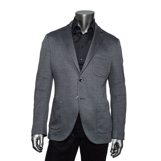 Parker Dyed Yarn Twill Blazer - Dark Grey