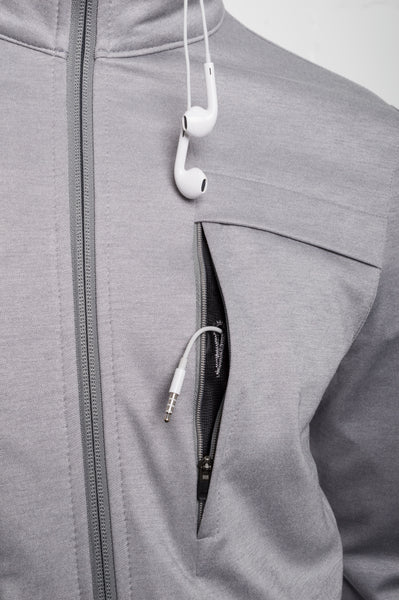 Aaron Cotton Jacket - Grey