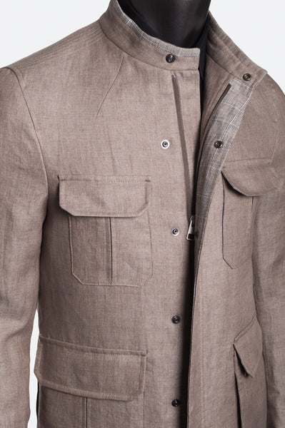 Sandy Jacket Linen - Beige