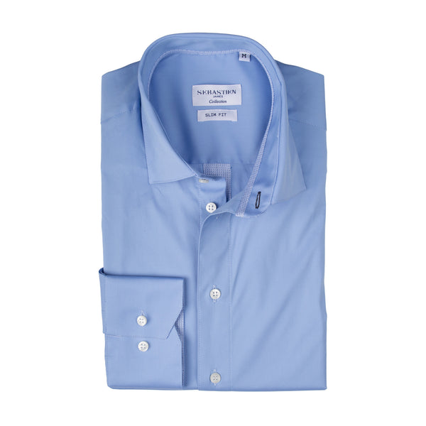 Parker Performance Stretch Shirt - Light Blue