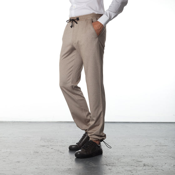 Jogger Pants Cotton - Beige