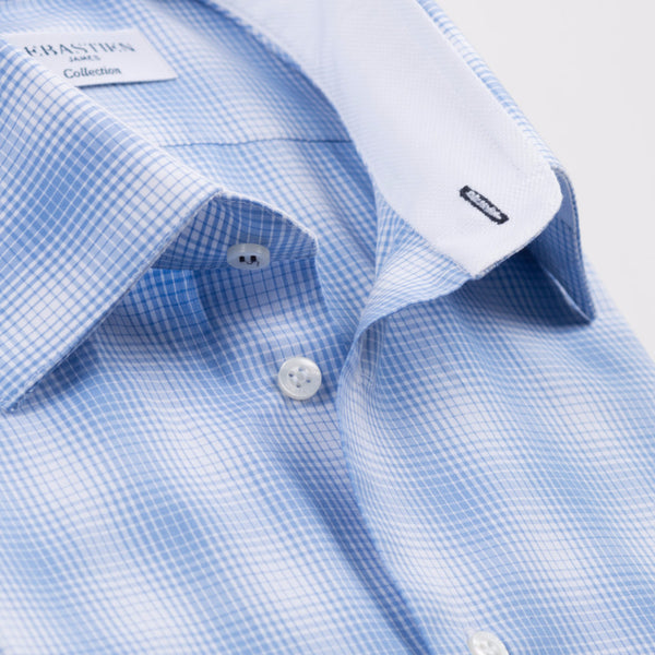 Gary Cotton Shirt - Blue Plaid