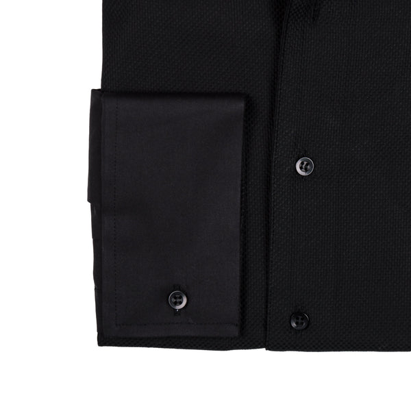 Tuxedo Performance Stretch Shirt Tailored - Black