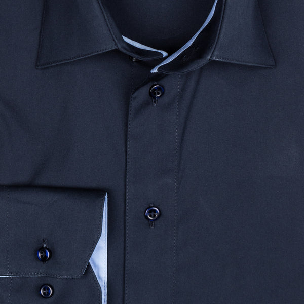 Gary Performance Stretch Shirt - Navy Blue