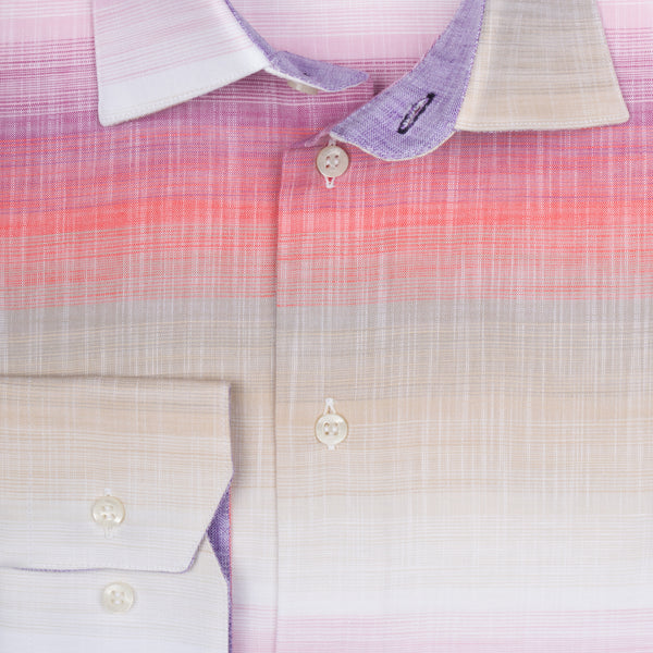 Steve Cotton Shirt - Pink Lavender