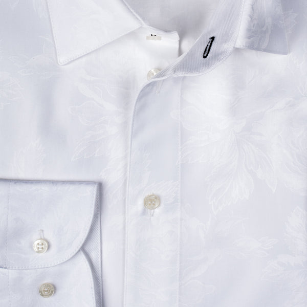 Gary Shirt Cotton - Off White Floral