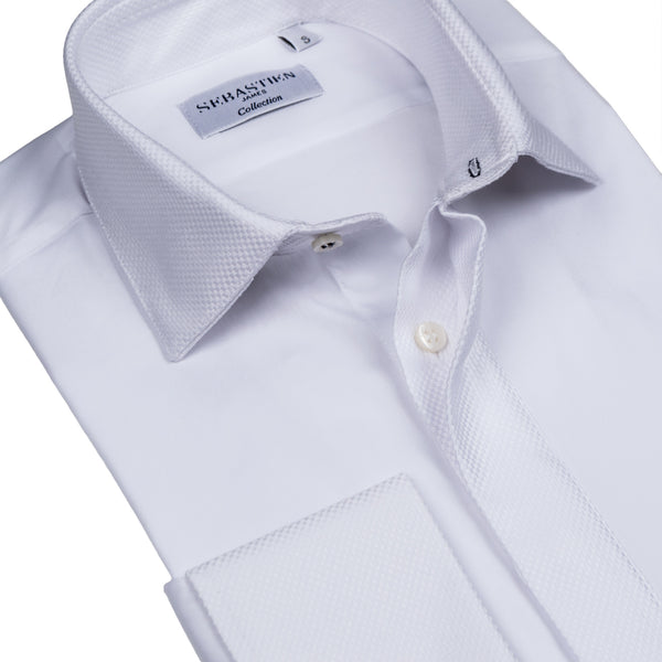 Hidden Placket Standard Fit Shirt - White