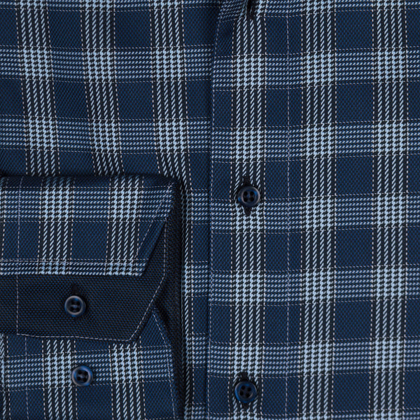 James cotton tailored fit shirt - navy check