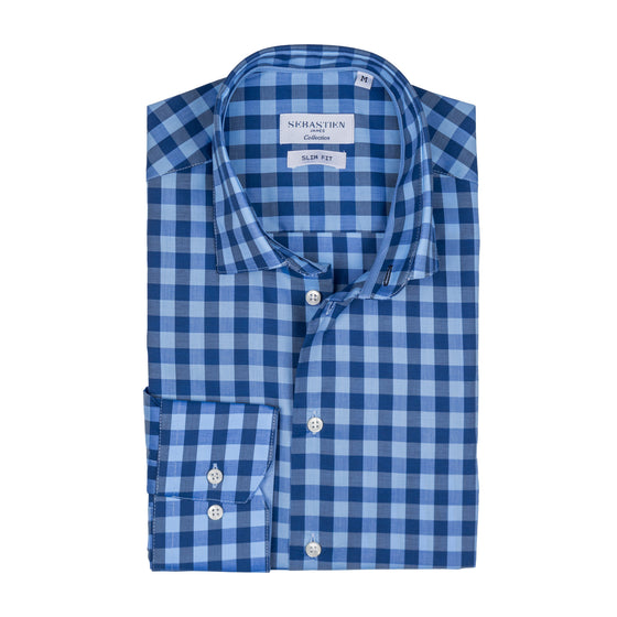 James Shirt Checkered - Sky Blue