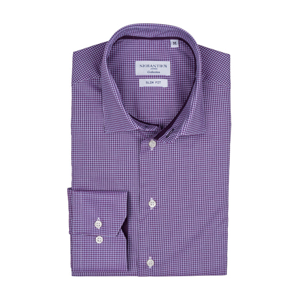 James Shirt Checkered - Plum