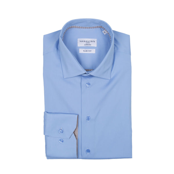Parker Performance Stretch Shirt - Sky Blue