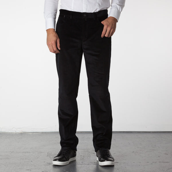 Parker 5 Pocket Corduroy Pants - Black