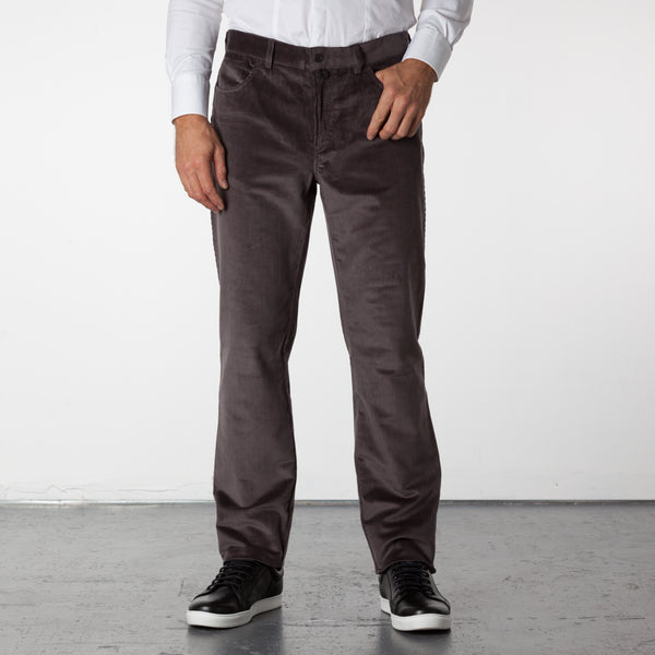 Parker 5 Pocket Corduroy Pants - Charcoal