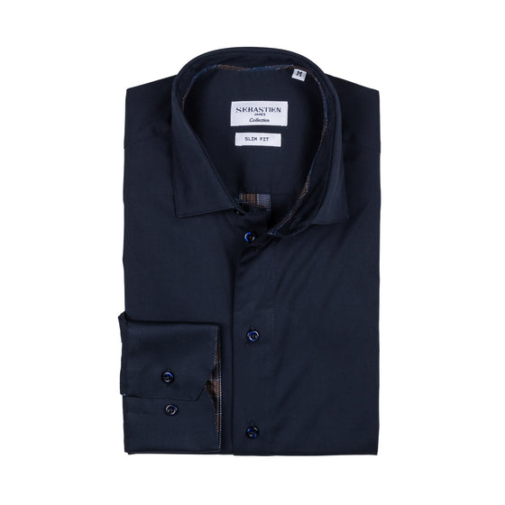 Parker Performance Stretch Shirt - Bold Navy