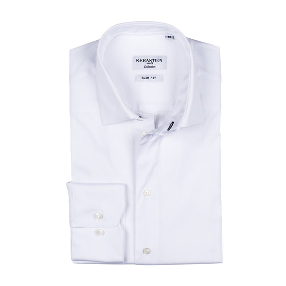 Parker Performance Stretch Shirt - Solid White