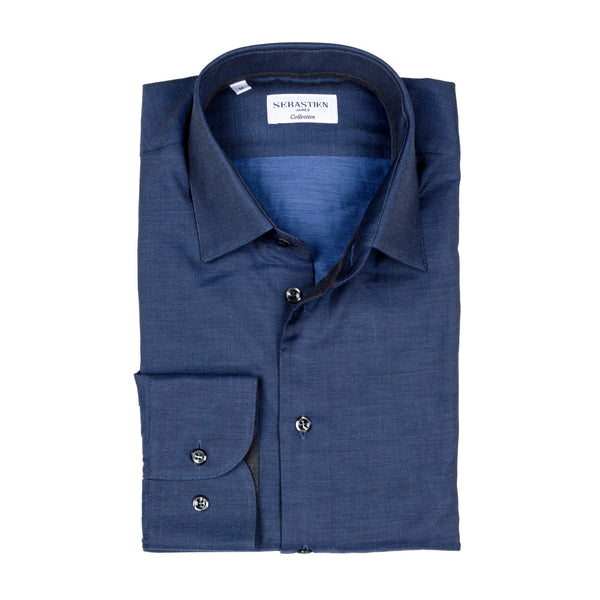 Gary Cotton Shirt - Bold Navy