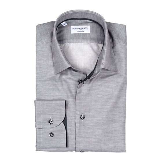 Gary Cotton Shirt - Light Grey