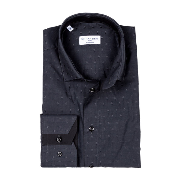 James Cotton Shirt - Grey Rhombus