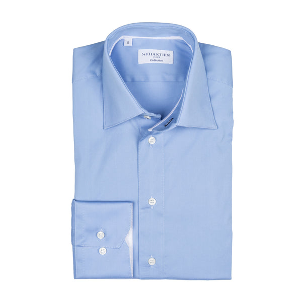 Gary Performance Stretch Shirt - Light Blue