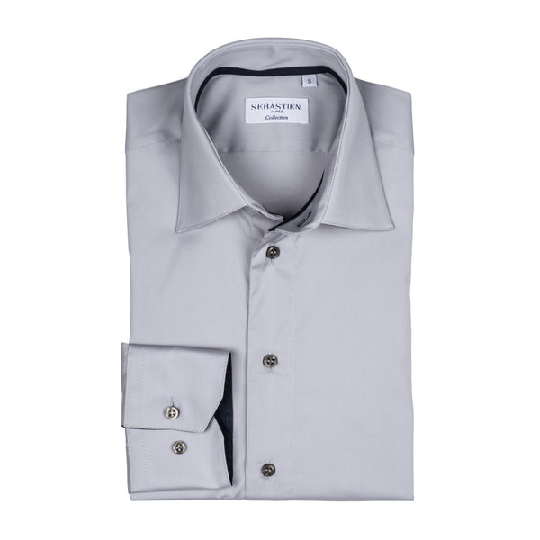 Gary Performance Stretch Shirt - Light Grey