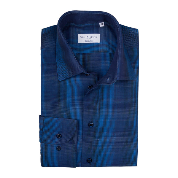 Gary Cotton Shirt - Blue
