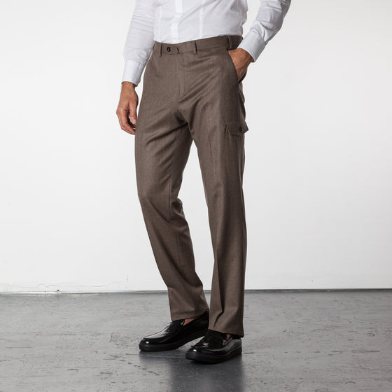 Gary Traveler Pant Wool - Bark