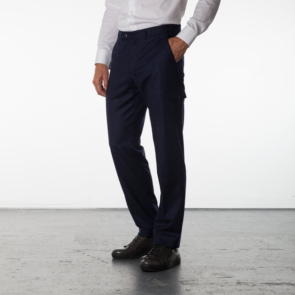 Gary Traveler Pant Wool Ink - Blue