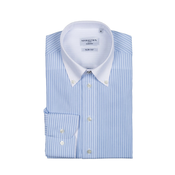 Smith Shirt Cotton - Light Blue