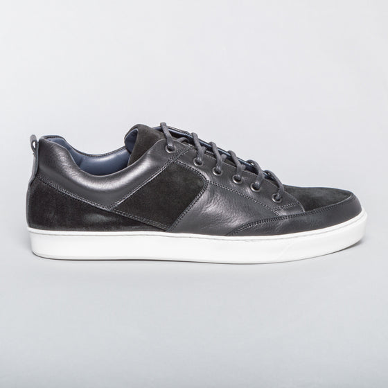Leather and Suede Sneaker - Black