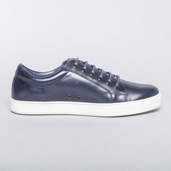 Leather Sneaker Navy - Blue