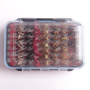 112 pcs Flies Fishing Lures Flies Handmade Easy Install Light and Convenient Floating Sinking Bass Trout Pike Sea Fishing Fly Fishing Bait Casting Feathers Carbon Steel / Carp Fishing / Lure Fishing