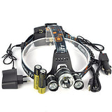Headlamps Safety Light Headlight LED LED Emitters 13000 lm 1 Mode with Batteries and Chargers Anglehead Suitable for Vehicles Super Light Camping / Hiking / Caving Everyday Use Cycling / Bike