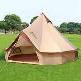 8 person Bell Tent Glamping Tent Outdoor Windproof Rain Waterproof Professional Single Layered Camping Tent >3000 mm for Camping / Hiking / Caving Traveling Cotton 400*400*250 cm