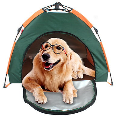 Pet Tent Outdoor Lightweight Windproof Rain Waterproof Camping Tent 2000-3000 mm for Camping / Hiking / Caving 100% Polyester 80*80*60 cm