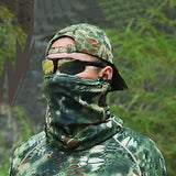 Men's Neck Gaiter Neck Tube Outdoor Windproof Breathable Quick Dry Stretchy Spring Fall Winter Camo Hunting Fishing Cycling / Bike Black Jungle camouflage Camouflage