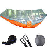 Camping Hammock with Pop Up Mosquito Net Double Hammock Outdoor Breathable Ultra Light (UL) Foldable Mesh Parachute Nylon for 2 person Hunting Fishing Hiking Rose Pink / Blue Fruit Green Sky Blue