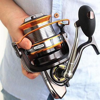 Spinning Reel 4:7:1 Gear Ratio+11 Ball Bearings Hand Orientation Exchangable Sea Fishing - AFL9000
