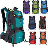 60 L Hiking Backpack Rucksack Breathable Straps - Lightweight Breathable Rain Waterproof Wear Resistance Outdoor Hunting Hiking Climbing Nylon Black Green Sky Blue / Yes