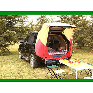 2 person Tent Truck Tent Outdoor Rain Waterproof Dust Proof Single Layered Camping Tent 1000-1500 mm for Camping / Hiking Polyester Taffeta Aluminium Alloy