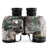 10 X 50 mm Binoculars with Rangefinder and Compass Lenses Waterproof Adjustable Night Vision Fully Multi-coated BAK4 Camping Hiking Hunting Fishing Bird watching Wildlife Watching Natural Rubber