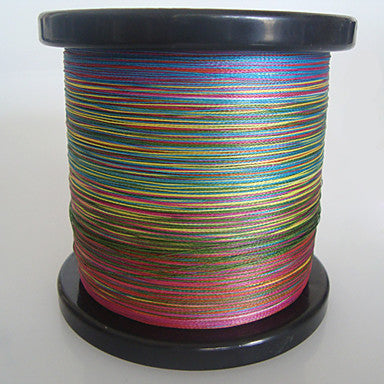 1000m 1100 yards pe braided line dyneema superline fishing linegreen orange yellow purple fuchsia red blue assorted