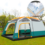 Shamocamel® 8 person Family Tent Outdoor Waterproof, Well-ventilated, Breathability Double Layered Poled Instant Cabin Camping Tent Two Rooms >3000 mm for Camping / Hiking Polyester, Polyster