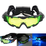 Night Vision Goggles with Flip out Blue Led Lights Lenses Waterproof Adjustable LED Fogproof Camping Hiking Hunting Shooting to Protect Eyes Children's Day Gift Plastic Metal
