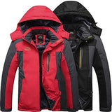 Men's Hiking Jacket Winter Outdoor Thermal / Warm Windproof Breathable Rain Waterproof Fleece Winter Jacket Top Camping / Hiking Hunting Fishing Black Army Green Red M L XL XXL XXXL