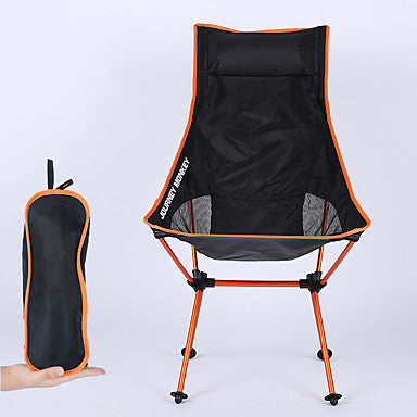 Camping Chair High Back with Headrest Breathable Ultra Light (UL) Foldable Comfortable Mesh 7075 Aluminium Alloy for Camping / Hiking Fishing Beach Outdoor Autumn / Fall Spring Orange Blue Red Dark