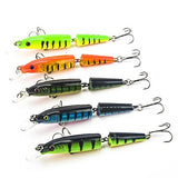 5 pcs Fishing Lures Hard Bait Minnow Floating Bass Trout Pike Sea Fishing Bait Casting Jigging Fishing Hard Plastic / Freshwater Fishing / Bass Fishing / Lure Fishing / General Fishing