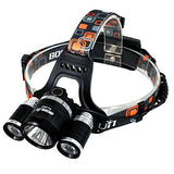 Headlamps Headlight 10000 lm LED Emitters 4 Mode with Batteries and Charger Anglehead Suitable for Vehicles Super Light Camping / Hiking / Caving Cycling / Bike Hunting White Green Red